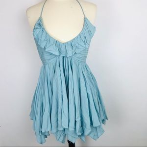"""Free people """"Solid Ruffle Fit and Flare Dress"""""""
